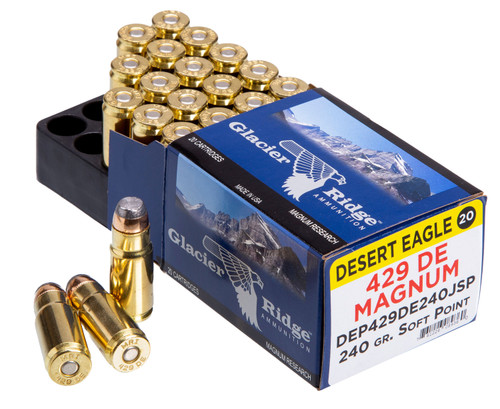 Glacier Ridge 429 Desert Eagle Magnum 240 Grain Soft Point - 20rds