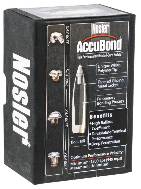 (RELOADING BULLETS) Nosler 55602 AccuBond 30 Caliber .308 165 GR Spitzer Point 50 Bullets for Reloading