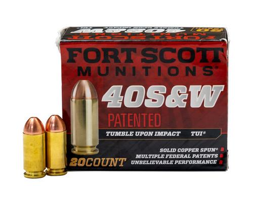 Fort Scott Munitions 400-125-SCV TUI 40 S&W 125 gr Solid Copper Spun 20rds