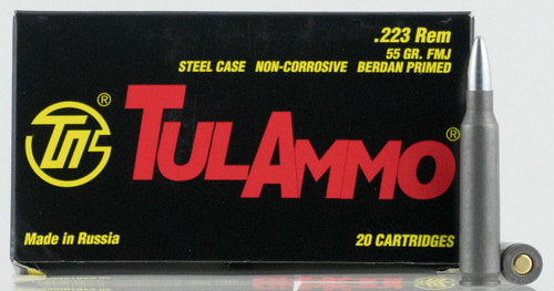 FULL CASE -  Tulammo TA223550 Rifle 223 Rem 55 gr Full Metal Jacket (FMJ) 1000rds
