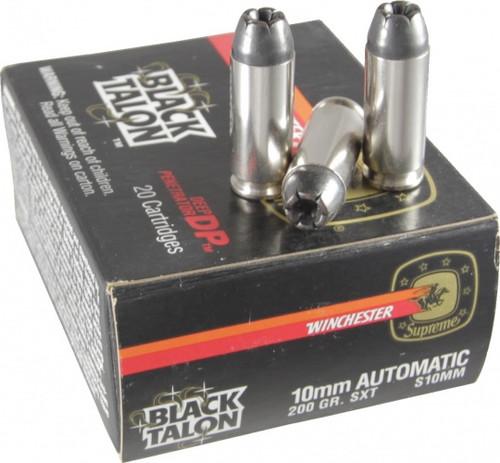 COLLECTIBLE - Black Talon 10mm Auto 200gr SXT Ammo S10MM - 20 Rounds