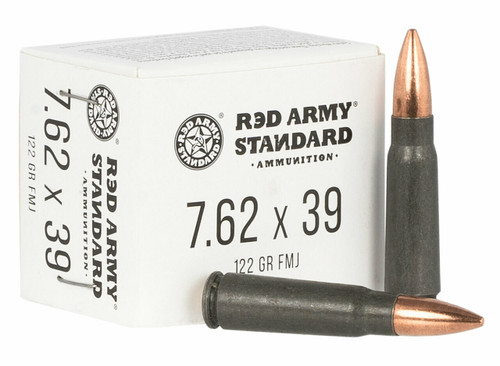 Full Case -  Red Army Standard AM3092 Red Army Standard 7.62x39mm 122 gr Full Metal Jacket 1000rds