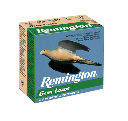 "Remington Ammunition 20030 Lead Game Loads 12 Gauge 2.75"" 1 oz 7.5 Shot 250rds"