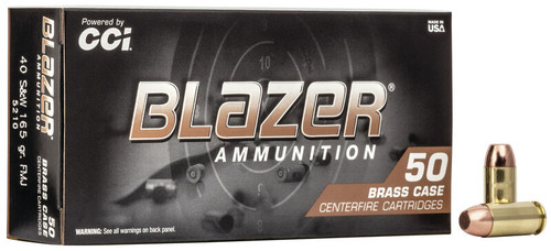 CCI 5210 Blazer Brass 40 S&W 165 gr Full Metal Jacket (FMJ) 50rds
