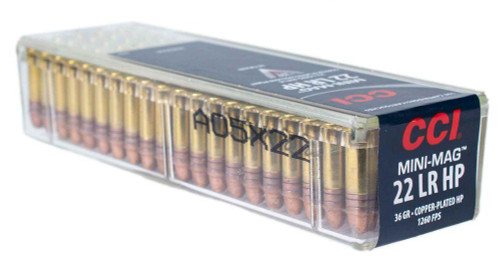 CCI 0031 Varmint Mini-Mag 22 LR 36 gr Copper Plated Hollow Point (CPHP) 100rds
