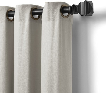 "Elrene Home Fashions Grommet Top Solid Single Panel Window Curtain Drape, 50"" x 95"", White"