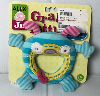 ALEX Toys ALEX Jr. Grab a Little Max The Dog Baby Rattle Toy