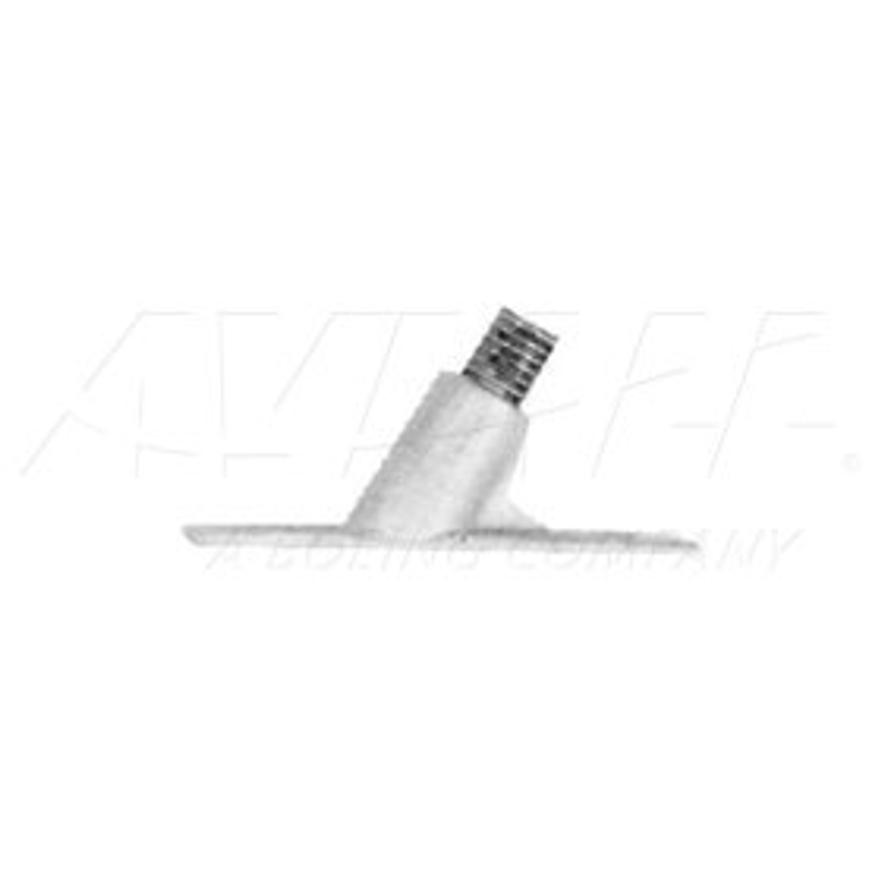 Static wick tip retainer for screw-on type tip dischargers.