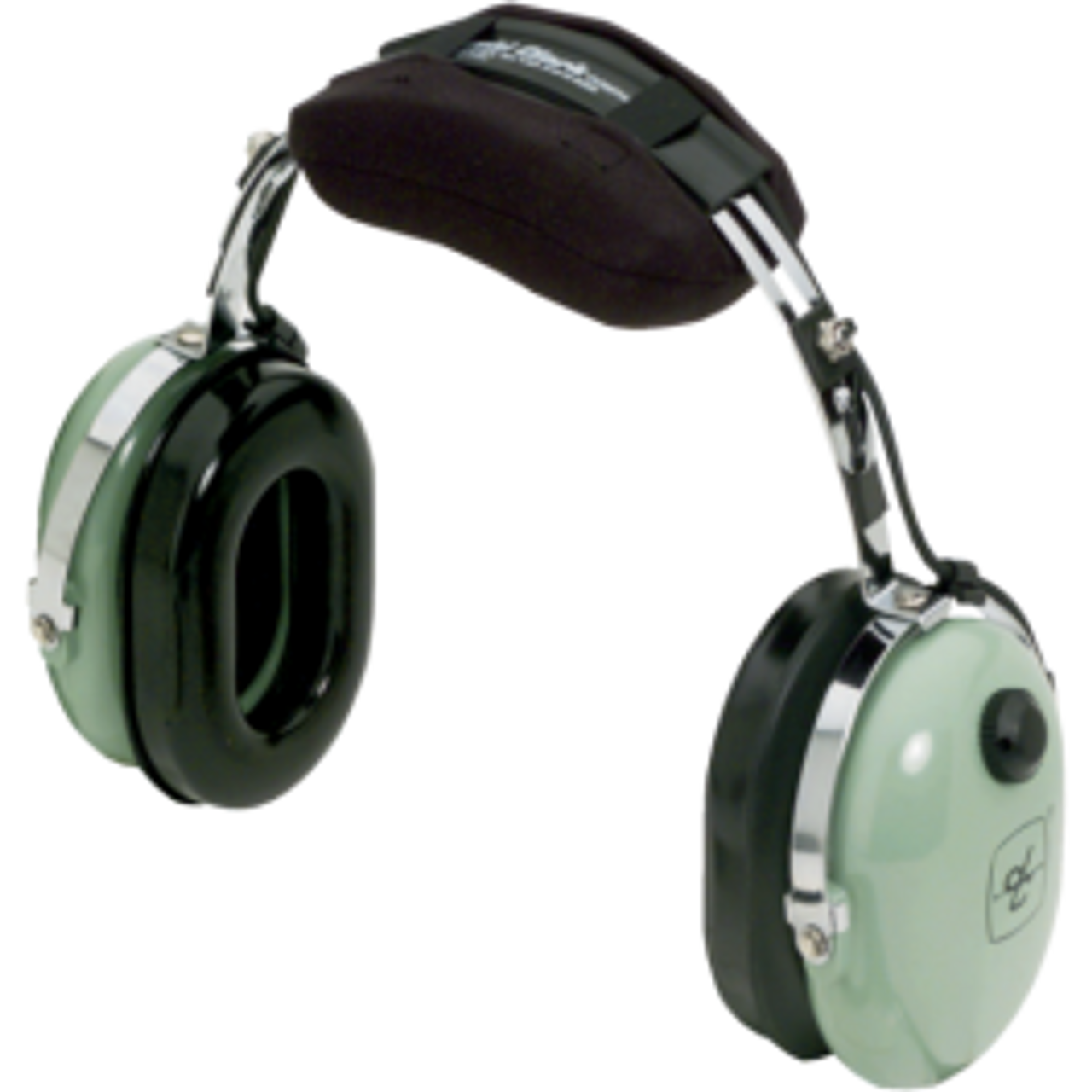 David Clark 12416G-18 Model 10S/DC Over-the-Head 6' Coil Cord 3.5 mm Stereo Plug Listen Only Computer Headset Part#: 12416G-18by David Clark