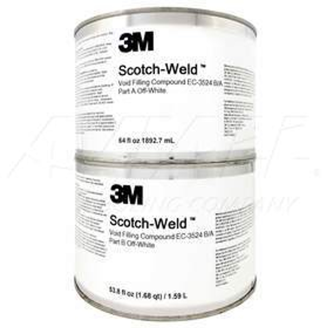 3M™ 048011-56923 Scotch-Weld™ EC-3524 B/A Off-White Void Filling Compound - Gallon Kit Part#: 048011-56923by 3M™ Scotch-Weld™ 3M Scotch-Weld Void Filling and Edge Sealing Compound EC-3524 B/A is a fire retardant, void filling, edge-sealing, potting and complex gap-filling epoxy compound for aerospace weight reduction. It is also effective as an abradable compound in aircraft engines. EC-3524 B/A provides a 90 minute worklife and is fully cured within 48 hours at 75°F (24°C).