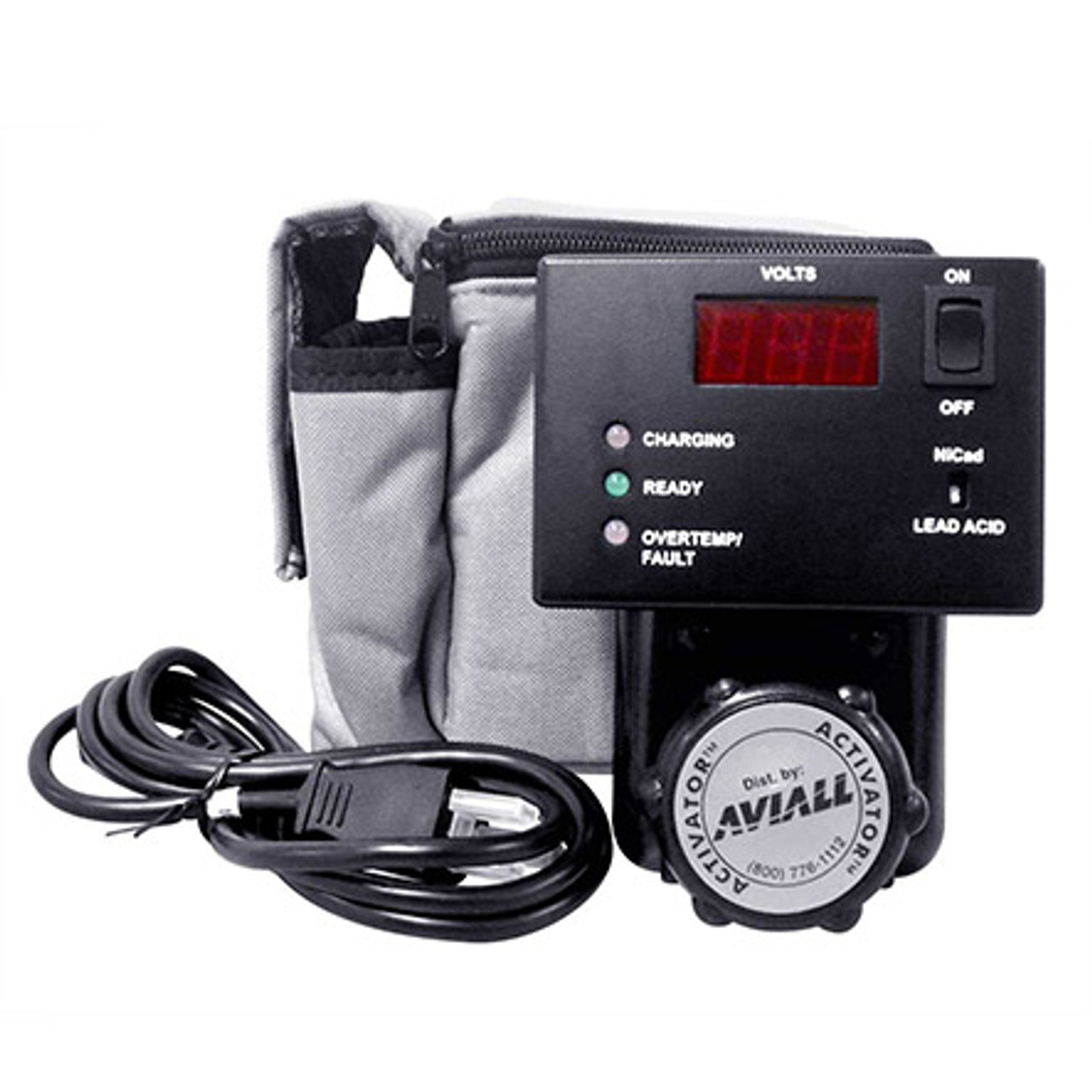 "Power Products Activator 282™ Battery Charger, 24 V / Lamar Technologies Llc / Part # 282  The Activator 282 is a direct connect, fully automatic 2 amp charger capable of charging a 24 volt military or aviation battery of any rating from zero to full capacity. It is also a standby maintenance unit without the use of ""trickle"" charging, thus extending the life and durability of the battery. The digital voltmeter continuously displays battery voltage during charge and standby."