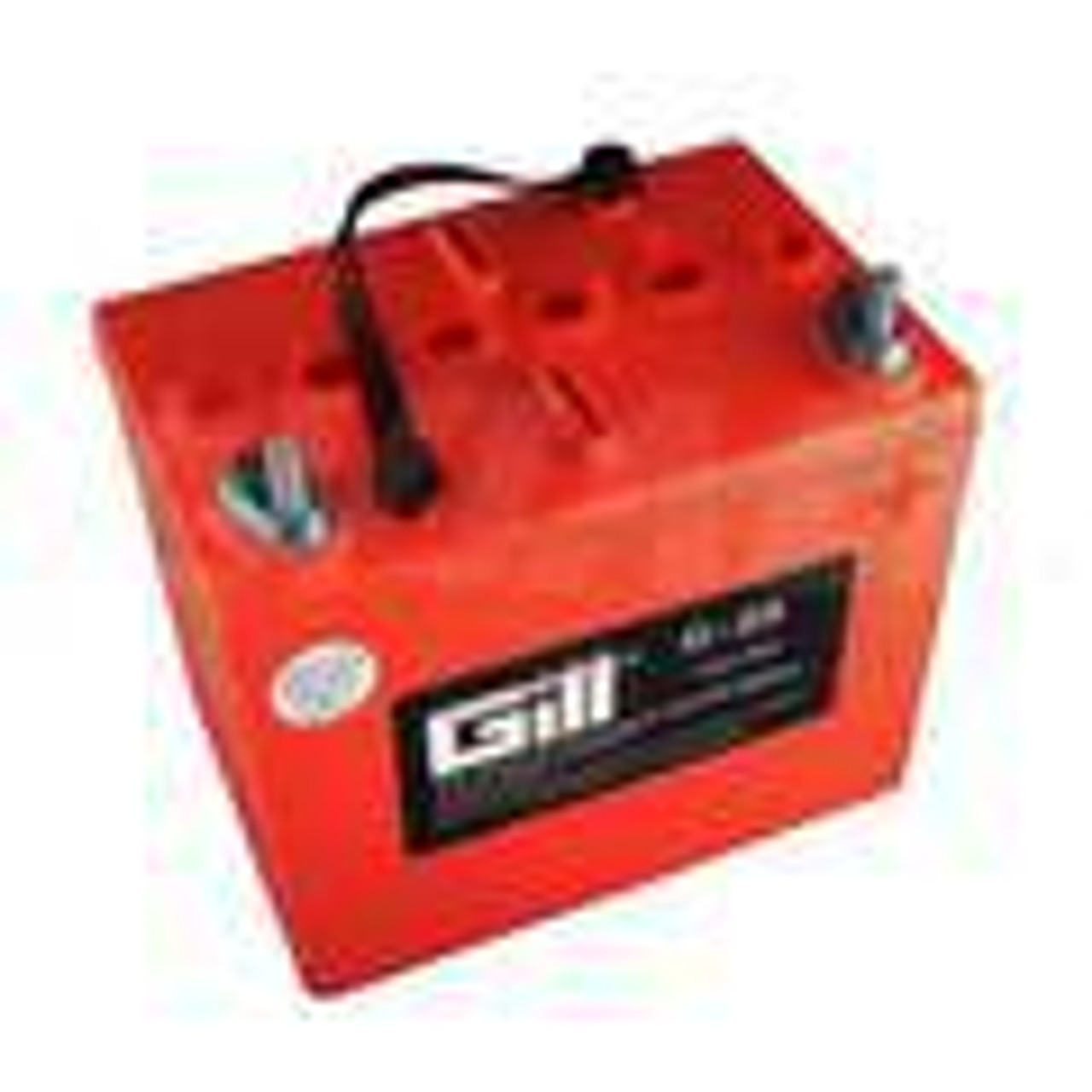 Gill Batteries are the original equipment aircraft battery. They offer the better performing sealed lead acid battery that is fast becoming the choice in a growing list of airframe manufacturers.     Features:  Assembled with electrodes (plates) that have been fully charged and dried Improved case-cover seal Heavy-duty internal post Weight: 21lbs Electrolyte: 2 Qts./1.285 s.g Capacity: 1 hr (C1) 18 Ipp: 30 min (2C) 30 Ipr: 60 sec/0 deg F (CCA) 225