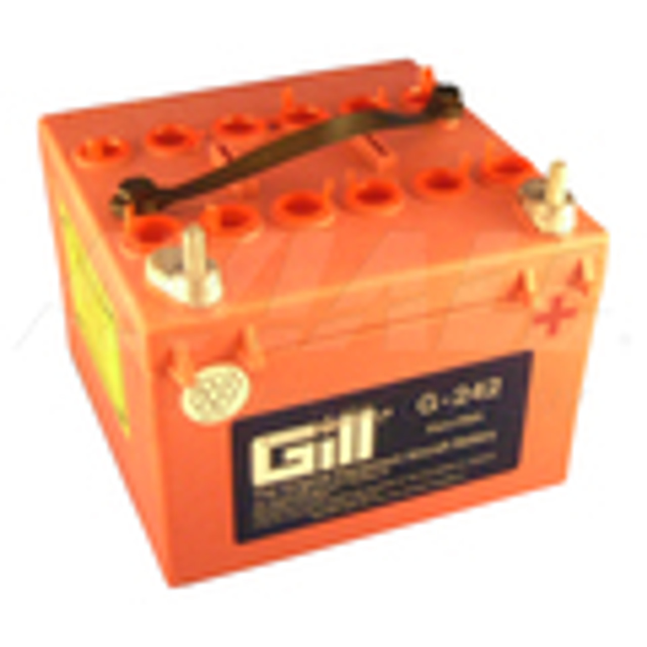 Gill® Batteries are the original equipment aircraft battery. They offer the better performing sealed lead acid battery that is fast becoming the choice in a growing list of airframe manufacturers.   Features:  Sealed, Non-Spillable Assembled with electrodes (plates) that have been fully charged and dried Improved case-cover seal Heavy-duty internal post Weight: 27lbs Electrolyte: 3 Qts./ 1.285 s.g Capacity: 1 hr (C1) 10 Ipp: 30 min (2C) 17 Ipr: 60 sec/0 deg F (CCA) 150