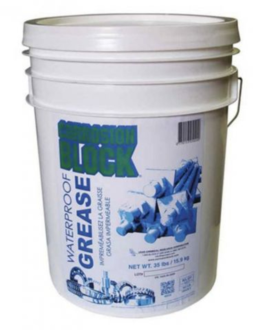 Waterproof Corrosion Block Grease 35 lbs Can Part# 25020 by Lear Chemical Corrosion Block Greaseis designed to provide maximum protection under severe conditions. Its formulation provides both high and low-temperature performance, increasing the service life of critical components including in aircraft along with aircraft ground support equipment .Corrosion Block Greasestrongly resists water washout and provides superior protection against rust and corrosion.Corrosion Block Greaseoutperforms lithium and most synthetic greases and meets or exceeds requirements for NLGI Service Classification GC-LB (automotive wheel bearing and chassis lubricants), which is based on ASTM D4950 performance requirements.