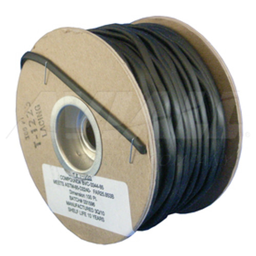 "The T-1223 is a 5/32"" x 3/32"" oval vinyl cord that is used in tying and bundling of electrical wires and cables throughout the aircraft."