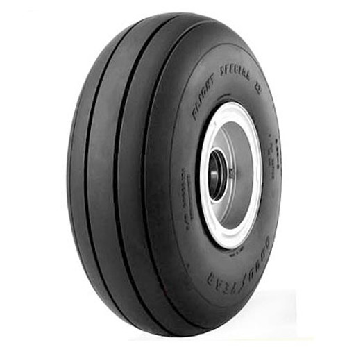 Goodyear Flight Special II™ is the economical choice for a tough general aviation tire. Features: Wide rib tread design and large footprint Tough-wearing tread rubber with triple-tempered nylon casing cord Average weight: 5 lbs Benefits: Enhanced traction Promotes uniform wear and extended service life.-