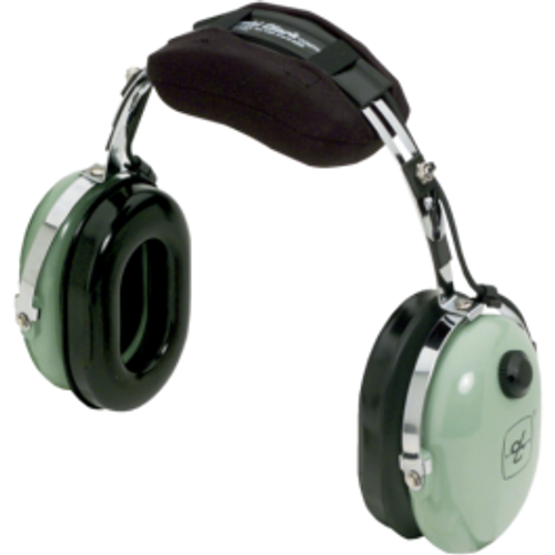 David Clark 12416G18 Model 10S/DC Over-the-Head 6' Coil Cord 3.5 mm Stereo Plug Listen Only Computer Headset Part#: 12416G18by David Clark