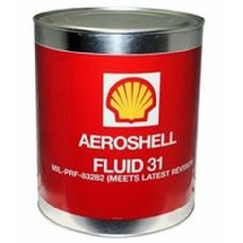 Aeroshell Fluid 31, 1 gallon can, is a synthetic hydrocarbon hydraulic fluid with greatly improved fire resistance characteristics when compared with conventional petroleum products. This fluid contains a specially developed base stock that provides a relatively high flash point, excellent low temperature properties, and good oxidation and thermal stability. In addition, additives are incorporated to further enhance stability and lubricity.