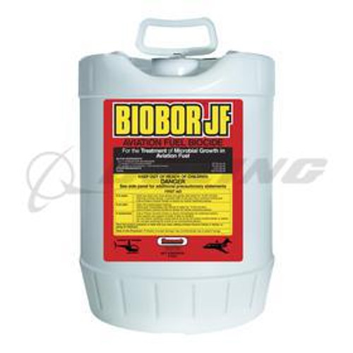 Biobor JF® BBPAIL01US Aviation Fuel Biocide & Lubricity Additive - 5 Gallon Pail Part#: BBPAIL01US by Biobor JF Biobor®JF kills and prevents micro-organisms (fungi, bacteria, yeasts) which cause aircraft and fuel tank contamination. Biobor JF provides highly effective, proven dual-phase chemistry to eliminate the growth of harmful bacteria and fungi that contaminate fuel systems, clog filters, corrode metal surfaces, and cause service interruptions. It adds lubricity to reduce engine wear, protecting vital engine parts.