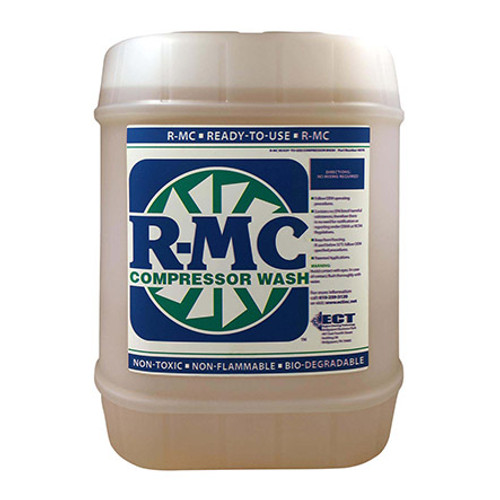 ECT R-MC Engine Cleaner 4072-05 Yellow, 5 gal pail Part#: 4072-05by ECT Inc. ECT R-MC Series engine cleaner concentrate (6:1) has a 7.5 to 8.5 pH level that ensures better cleaning of the surfaces without deteriorating the finish. With 23.7 millimeters Hg vapor pressure, this slight sweet odored cleaner has a specific gravity of 1.03 at 20 degrees C and a boiling point of 215 degrees F. This biodegradable liquid cleaner is yellow in color and comes in a 5-gallon pail.
