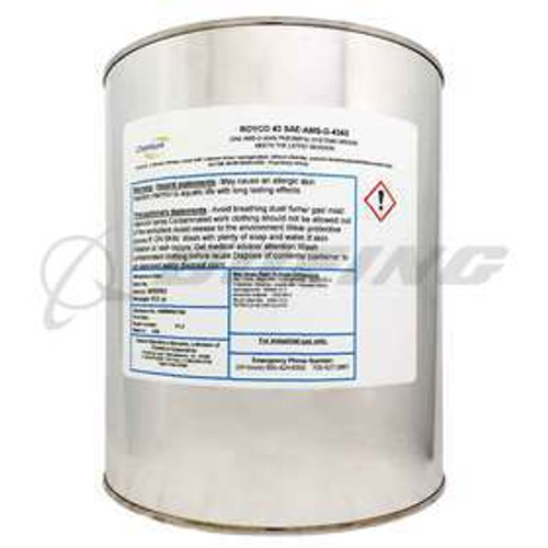 ROYCO® 43 Tan SAE-AMS-G-4343 Spec Pneumatic Systems Grease - 6.5 lb Can Part#: 4055593by ROYCO® ROYCO 43 is lithium soap thickened synthetic oil based grease developed for the demands of modern industrial, aerospace and marine applications. ROYCO 43 is compounded with state of the art additive technology to enhance oxidation resistance, rust and corrosion protection, and lubricity at extreme low temperatures. ROYCO 43 meets the requirements and is qualified to the latest revision level of SAE-AMS-G-4343, which supersedes MIL SPEC: MIL-G-4343, also meets DPM-333. SAE Spec#: SAE-AMS-G-4343