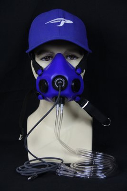 Microphone Mask For Use With X3 Demand Conserver / 020N0070-1 Precise Flight's popular microphone mask features a very comfortable blue silicone mask with a built-in Electret Microphone and a custom connection to our X3 Demand Conserver. The microphone allows you to communicate easily when flying high and the comfortable shape and soft silicone is smooth on your skin.