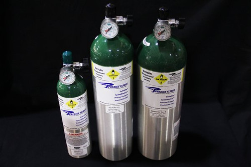 "15 cu. Ft. aluminum 20 1/4"" L x 4 1/4"" Diameter 9 1/4 lbs (filled wt.) oxygen tank with gauge. 15 cu. Ft. aluminum 20 1/4"" L x 4 1/4"" Diameter 9 1/4 lbs (filled wt.) oxygen tank with gauge. Our 15 Cubic Foot Oxygen Cylinder is ideally suited for serving two people and is normally used with an oxygen bottle carrying case (#OX CC151)(not included).  Includes Pressure Gauge (026N4001-1) and our Manual On/Off Valve (#026N3001-1). The cylinder should be used with carrying case (#OX CC151) and can interface with our standard regulator (#025N1101-1)."