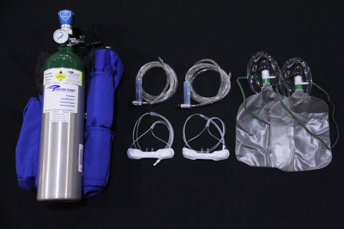 OXYpack2 - 2 Person Flow Meter Oxygen System With 15 CU. Ft. Cylinder / OXYPACK2 This complete portable oxygen solution for two people includes the 15 cubic foot portable bottle kit and the two person Flow Meter kit. Discount applied at checkout.