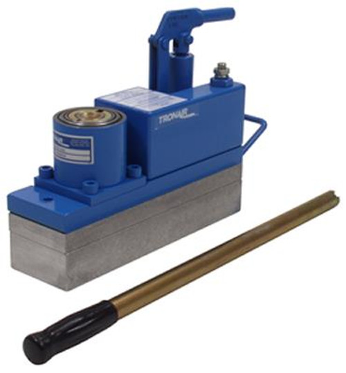 """Tronair® 02-7813C0100 Hydraulic 12-Ton Axle Jack (CE)  Part#: 02-7813C0100   byTronair®  Jacks, Axle. 1"""" and 2"""" Spacer Blocks included - increases closed and extended heights by 1"""", 2"""" & 3""""  Global leader Tronair has been manufacturing axle jacks and hydraulic power units since the early 1970s. The Tronair 02-7813C0100 12-ton hydraulic axle jack is designed for lifting aircraft to perform maintenance. Its maximum capacity is rated at 12 tons. The axle jack has a closed height of 4.5 inches, and it can be fully extended to a height of 15 inches. This particular model also includes 1-inch and 2-inch spacer blocks to increase closed and extended heights by 1, 2 and 3 inches."""