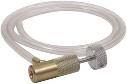 Tronair® 14-6802-6000 Tire/Strut Deflator Part# 14-6802-6000 byTronair®  Wheel and Strut Servicing Adaptors and Connectors. Hose provided to drain aircraft struts (remove hose when using for tire service)  The Tronair 14-6802-6000 Tire/Strut Deflator deflates tires and struts. It has a thread of .312-32, but no available information on Max Pressure.