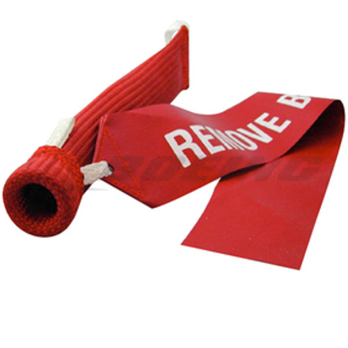 Sesame Technologies KPC3-780-45 Red Kevlar® Single Layer Round Embraer Pitot Cover / KPC3-780-45 Order a Sesame Technologies KPC3-780-45 Pitot Cover for your Embraer aircraft and take advantage of our value pricing. The red Kevlar® covers are designed to deliver a snug fit and come equipped with a warning streamer. Made from 1420 denier Kevlar®, the covers have a working temperature range of up to 800°F and are even able to resist brief exposure to flames without melting. The covers are easy to install and remove thanks to built-in installation and removal loops.
