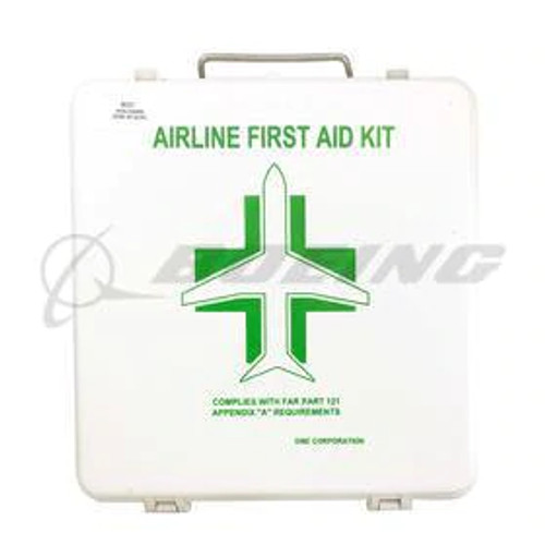 Astronics DME's First Aid Kits are manufactured for use on commercial airlines and general aviation aircraft. They offer a line of industry approved kits to comply with a variety of aviation authorities.     Features:  Constructed with flame retardant ABS material Double closure latches to assure sealing of the hinged cover Stainless steel carrying handle    Benefits:  Contents are specifically oriented for easy identification in an emergency Custom contents and custom labeling are available All kits are serialized Rewriteable RFID tags included on all kits