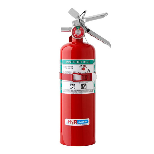B355T - 5.0 lb. Halon 1211 Fire Extinguisher Part #B355T by H3R ModelB355Tfeatures 5 lbs of aviation industry standard Halon 1211. Twice the firepower of the larger B394TS Halotron 1 model. NOTE: Ships to contiguous US only. No overnight/expedited/air shipping due to Hazmat limitations.