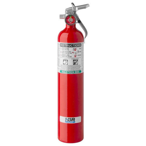 H3R 347 - 3.75 lb. Halotron BrX Fire Extinguisher Part # 347 by H3R Halotron BrXclean agent fire extinguishers are ideal options for those seeking to replace Halon 1211 fire extinguishers due to regulatory or environmental considerations. A low GWP and very low ODP allowed Halotron BrX to be approved for use on commercial aircraft. Halotron BrX is a UL, ISO, EN, EASA and FAA compliant Halon 1211 alternative accepted worldwide. Model 347 is the ideal option for those seeking to replace Halon 1211 fire extinguishers due to regulatory or environmental considerations. This 5B:C clean agent fire extinguisher is an effective, lightweight extinguisher containing Halotron® BrX(stabilized 2-BTP), a UL, ISO, EN, EASA and FAA compliant Halon 1211 alternative accepted worldwide.