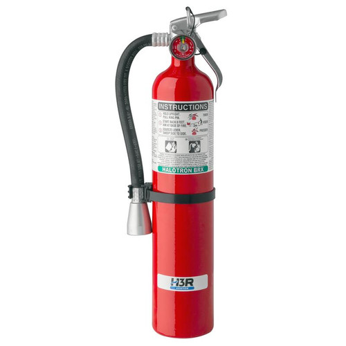 H3R 349 - 3.75 lb. Halotron BrX Fire Extinguisher Part # 349 by H3R Halotron BrXclean agent fire extinguishers are ideal options for those seeking to replace Halon 1211 fire extinguishers due to regulatory or environmental considerations. A low GWP and very low ODP allowed Halotron BrX to be approved for use on commercial aircraft. Halotron BrX is a UL, ISO, EN, EASA and FAA compliant Halon 1211 alternative accepted worldwide. Model 349 is the ideal option for those seeking to replace Halon 1211 fire extinguishers due to regulatory or environmental considerations. This 5B:C clean agent fire extinguisher is an effective, lightweight extinguisher containing Halotron® BrX(stabilized 2-BTP), a UL, ISO, EN, EASA and FAA compliant Halon 1211 alternative accepted worldwide.