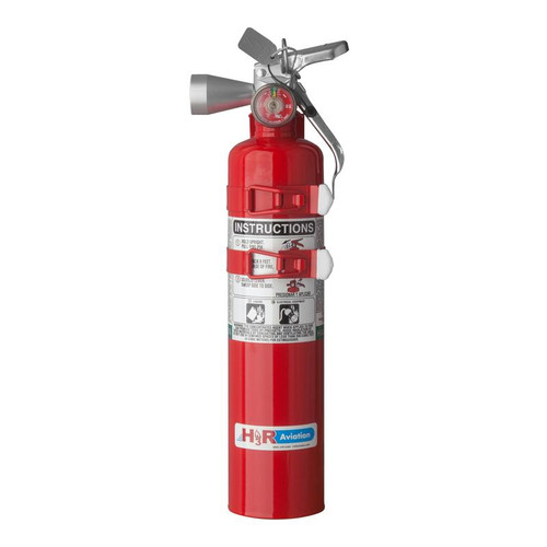H3R B385TS - 2.5 lb. Halotron 1 Fire Extinguisher Part # 385TS by H3R Halotron® 1 is the most widely tested and accepted Halon 1211-alternative agent for streaming applications. Just like Halon 1211, Halotron® 1 expels as a rapidly evaporating liquid and leaves no residue.  Just like Halon 1211, Halotron® 1 (HCFC Blend B) expels as a rapidly evaporating liquid and leaves no residue. Model B385TS effectively extinguishes Class B and C fires by cooling and smothering and it will not conduct electricity back to the operator. Halotron® 1 is the most widely tested and accepted Halon 1211-alternative agent for streaming applications.