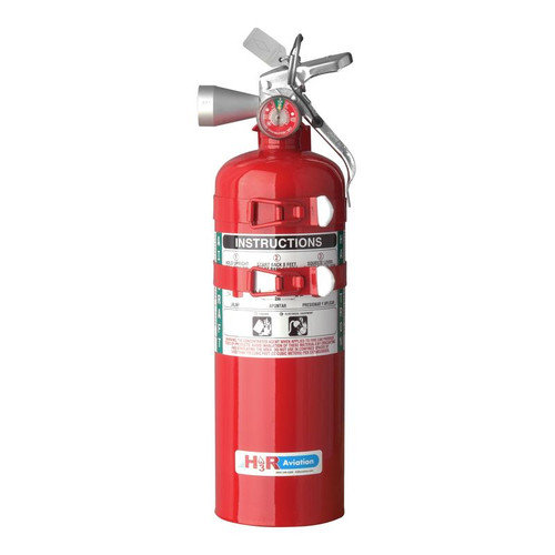 H3R B394TS - 5.5 lb. Halotron 1 Fire Extinguisher Part # B394TS by H3R Halotron® 1 is the most widely tested and accepted Halon 1211-alternative agent for streaming applications. Just like Halon 1211, Halotron® 1 expels as a rapidly evaporating liquid and leaves no residue. Halon-alternative Halotron® 1 fire extinguisher Model B394TS meets the FAA-approved minimum performance standards in report DOT/FAA/AR-01/37 and is accepted for use on-board aircraft.