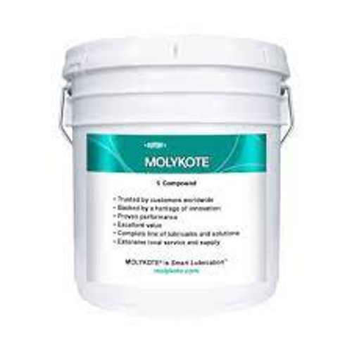 MOLYKOTE 4 ELECTRICAL INSULATING COMPOUND WHITE 40 LB PAIL Part # 131753 by Molikote. This silicone sealant offers the user good thermal oxidation and chemical stability, high dielectric strength, low volatility, and moisture resistance. Molykote 4 retains its grease like nature in temperatures ranging from -40°C to +200°C. Molyote 4 is a grease-like, moisture resistant, silicone compound that adheres to ceramics, rubber, plastics, dry metals, and insulating resins. This electrical insulating compound is used as a lubricant and seal for battery terminals, cable connectors, rubber door seals, plastic O-rings and switches. It is also used as an assembly lubricant for metal-on-rubber and metal-on-plastic combinations. Molykote 4 retains a grease like consistency in temperatures ranging from -40°C to +200 deg;C and offers the user high dielectric strength, low volatility, good thermal oxidation, and good chemical stability. When stored in the original unopened containers this product has a usable life of 60 months. Molykote 4 is a low volatility, grease like electrical insulating compound. It has good thermal oxidation and chemical stability while meeting MIL-S-8660C. The main function of this material is to seal and lubricate cable connectors, rubber door seals, battery terminals, plastic O-rings and rubber. Molykote 4 Electrical Insulating Compound is a grease-like silicone material that offers a moisture proof seal for automotive, aerospace, and marine applications. This product is highly water repellent, offers high dielectric strength, and retains a grease-like consistency in temperatures ranging from -40°C to +200°C. Used as a seal and lubricant for battery terminals, cable connectors, rubber door seals, switches and rubber plastic O-rings; an assembly lubricant for metal-on-rubber and metal-on-plastic combinations; moisture proof seal for automotive, aircraft, and marine ignition systems and spark plug connections, disconnection junctions in electrical wiring sys