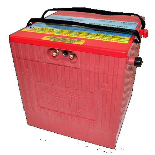 Gill® LT Valve Regulated Sealed Lead Acid Aircraft Battery EMB-505 Phenom , 24V, 36Ah / 7638-36 Gill® Batteries are the original equipment aircraft battery. They offer the better performing sealed lead acid battery that is fast becoming the choice in a growing list of airframe manufacturers. Gill Aircraft Batteries are manufactured in one of the most modern factories in the world. Aircraft batteries have FAA/PMA approval and are built under strict quality assurance procedures, ensuring a quality product that has become a standard in the aviation industry. Features: Sealed, Non-Spillable Valve-regulated lead-acid battery (VRLA) Weight: 85 lbs Electrolyte: Not needed Capacity: 1 Hr (C1) 36 Ipp: 30 Min (2C)63 Ipr: 60 sec/0 deg F (CCA) 500 Benefits: Provides optimal power, fast recharge and superior life 2 Year Warranty 18 Month/1800 Hour Capacity Check Inspection Specifications: FAA/PMA approved and tested to DO-160E standards Aircraft Applications: Embraer EMB-505