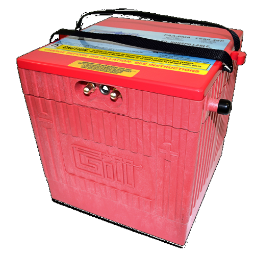 Gill® LT Valve Regulated Sealed Lead Acid Aircraft Battery Extreme Cranking Power , 24V, 48Ah / 7638-48P Gill® Batteries are the original equipment aircraft battery. They offer the better performing sealed lead acid battery that is fast becoming the choice in a growing list of airframe manufacturers. Start strong with the Gill 7638-48P for your Embraer EMB 505 Aircraft with no additional STC Hardware required. Features: Sealed, Non-Spillable Valve-regulated lead-acid battery (VRLA) Weight: 95 lbs Electrolyte: Not needed Capacity: 1 Hr (C1) 48 Ipp: 30 Min (2C) 75 Ipr: 60 sec/0 deg F (CCA) 500 The 7638-48P is 'Original Equipment (OEM)' for Embraer- EMB 505 Aircraft No additional STC Hardware is required Maintenance Free-Shipped Fully Charged and No Electrolyte or Water Required Non-Spillable and Proven for Aerobatic Maneuvering 2 Year Factory Warranty After Installation Robust Starts, Higher Residual Power & Faster Re-Charge Times First Capacity Check Not Required Until 18 Months/1800 Hours Cost Competitive and Best Shelf Life in Lead Acid Chemistry Advanced Valve Regulated Lead Acid (VRLA) Design FAA/PMA Approved, TSO Authorized and Tested to DO-160E LT Series Batteries Are Fully Recyclable LT Series Batteries Ship Hazmat Exempt Benefits: Provides optimal power, fast recharge and superior life 2 Year Warranty 18 Month/1800 Hour Capacity Check Inspection