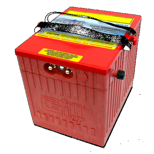 Gill® LT Valve Regulated Sealed Lead Acid Aircraft Battery Super Ah Capacity for BizJets, 24V, 34Ah Part # 7639-34 by Gill Battery Gill® Batteries are the original equipment aircraft battery. They offer the better performing sealed lead acid battery that is fast becoming the choice in a growing list of airframe manufacturers. Features: Sealed, Non-Spillable Valve-regulated lead-acid battery (VRLA) Weight: 67lbs Electrolyte: Not needed Capacity: 1 Hr (C1) 34 Ipp: 30 Min (2C) 55 Ipr: N/A The 7639-34 is 'Original Equipment (OEM)' for the Embraer 505 No additional STC Hardware is required Maintenance Free-Shipped Fully Charged and No Electrolyte or Water Required Non-Spillable and Proven for Aerobatic Maneuvering 2 Year Factory Warranty After Installation Robust Starts, Higher Residual Power & Faster Re-Charge Times First Capacity Check Not Required Until 18 Months/1800 Hours Cost Competitive and Best Shelf Life in Lead Acid Chemistry Advanced Valve Regulated Lead Acid (VRLA) Design FAA/PMA Approved, TSO Authorized and Tested to DO-160E LT Series Batteries Are Fully Recyclable LT Series Batteries Ship Hazmat Exempt Start strong with the Gill 7639-34 for your Embraer 505. Original equipment with no additional STC Hardware required. Benefits: Provides optimal power, fast recharge and superior life 2 Year Warranty 18 Month/1800 Hour Capacity Check Inspection Specifications:FAA/PMA approved and tested to DO-160E standards Aircraft Applications:Embraer: EMB-505