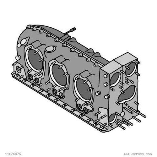TEXTRON LYCOMING PISTON ENGINE PARTS CRANKCASE ASSY-MACH & STUDDING Part# 11F24020-S2 by Textron Lycoming