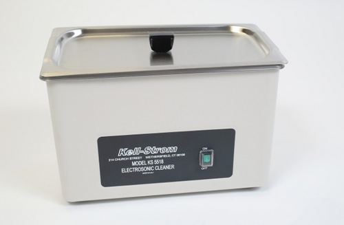 ELECTRO CLEANER 117-110 VOLT Part# KS5518 by Kell-Strom Tool NSN: 4940-01-445-1166 Electrosonic cleaning is the method of choice when ultrasonic cleaning may damage parts being cleaned. Consists of a solid, stainless steel tank. Vibrator motor gently agitates the cleaning solution. The tank can withstand even the hardest cleaning solutions.