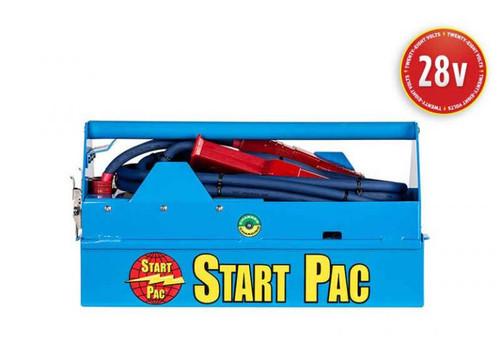 START PAC® Mobile 28V 2400A Lithium Aircraft Starting Unit Part# Li2800QC by START PAC® This compact, portable Lithium-ion starting unit is a full 28VDC battery pack and will provide superior starts on electrically started turbine engines. Designed for engine starting only, the lithium technology is the lightest available on the market, which makes this lithium GPU ideal to preserve payload when the unit is being carried out in the field. This patented START PAC® unit will provide a faster and cooler engine start than most ship's aircraft batteries (the turbine is spooled to more revolutions per second before fuel is injected). Thus, turbine life will be extended because there is less stress on the starter and other engine components. This will preserve the aircraft's costly batteries and help lower operating costs. Your airborne, on-board battery can then be saved for emergency use only. As a START PAC® secures all your engine starts, this unit will ensure that you have no downtime, even in remote locations. This START PAC® has separate removable batteries that can be changed in less than one minute (No tool necessary). This unique feature allows the user to switch the batteries in the field without needing to return the unit to the shop or manufacturer for battery replacement; it's virtually maintenance free. Additionally, certain aircraft will allow the ship's generator to back charge a GPU. In this manner, the START PAC® unit can be recharged in the field indefinitely without an AC source.