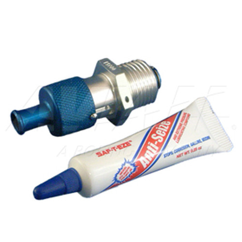 "Saf-Air P5000 Aluminum/Stainless 1/2"" NPT Lock Open Oil Drain Valve / Part#: P5000b"