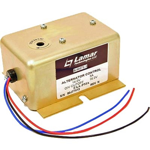 Lamar B-00371-1 Alternator Control 14V Part# B-00371-1 by Lamar The Lamar B-00371-1 Alterntor Control is FAA/PMA approved as a replacement for the following part numbers; B00371-2, B00371-4, B00371-5, 6047277224, B-00371-7, B-00371-8, B00371-9, B00371-10, B00371-11, B00371-12, ECD-069-11, B00371-13, B00371-14, B00371-15, and B00371-16. It is used on various Zenair, Robinson, Socata, Avions, Maule, Enstrom, slingsby, American Champion and Brantley aircraft.