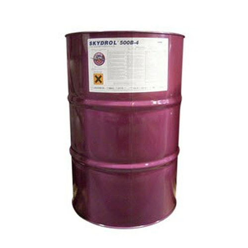 Eastman™ Skydrol® LD-4 Purple BMS3-11P, Type V, Grade B & C Spec Fire Resistant Hydraulic Fluid | 55 GAL Drum Part# P3410202 by Eastman™ Eastman Skydrol LD-4 Fire Resistant Hydraulic Fluid has been trusted for 30 + years. Skydrol LD-4 is known for outstanding thermal stability and minimization of deposits. It is specially formulated to help prevent valve erosion and aids in the transfer of aircraft system power.The world's best-selling Type IV aviation hydraulic fluid, Skydrol LD-4, features low density, valve erosion prevention, and deposit control. Erosion resistance is made possible by a breakthrough anti-erosion additive and acid scavenger found in the formulation. For more than 35 years, there has been no change in the formulation, giving LD-4 the reputation as the premier aviation hydraulic Type IV fluid.