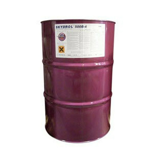 Eastman™ Skydrol® PE-5 Type V, Fire Resistant Hydraulic Fluid   55 GAL Drum Part# P3410301 by Eastman™ Skydrol PE-5 is the first name in aviation hydraulic fluids. A Type V, fire-resistant hydraulic fluid specifically formulated to meet the changing needs of the aviation industry, PE-5 offers the longest fluid life of any phosphate ester fluid available today, even under high moisture conditions. With PE-5, you can experience less frequent fluid replacement, reducing disposal volume and decreasing your environmental footprint. Skydrol PE-5 was developed to meet and exceed the more demanding Type V fluid requirements. It features the longest fluid life of any commercially available fluid, low density and low viscosity at low temperature—an unbeatable combination of the best features for optimum fluid performance. Thermal stability is according to Airbus test method, Fluid life test with 0.5% moisture level.