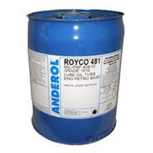ROYCO® 481 MIL-PRF-6081E Grades 1010/1010N Spec Turbine Engine Corrosion Preventative Compound 5 GAL Pail Part# 4055856 ROYCO 481 is a mineral oil based lubricant formulated with modern additives to provide oxidation and corrosion protection as well as high viscosity index for both low and high temperature fluidity. ROYCO 481 is approved as a P-10 preservative under MIL-STD-2073-1C for use in gas turbine engines and fuel systems. Features and Benefits: Offers outstanding rust and corrosion prevention Preserves turbojet engines and engine parts Ashless additive technology Applications: ROYCO 481 is recommended for lubrication of gas turbine engine components and as a flushing and preservative fluid for aircraft fuel systems and components. the high viscosity index provides for operation in a wide range of operating temperatures in high-speed turbines as well as gas turbine engines. ROYCO 481 may also be considered as the primary turbine engine lubricant in many aircraft turbine engines designed to run on mineral based lubricants. Approvals and Specifications: Meets all requirements of an is qualified to MIL-SPEC: MIL-PRF-6081D Amendment 1, Grade 1010 and 1010N Approved as a P-10 preservative under MILSPEC: MIL-STD-2073-1C for use in gas turbine engines and fuel systems