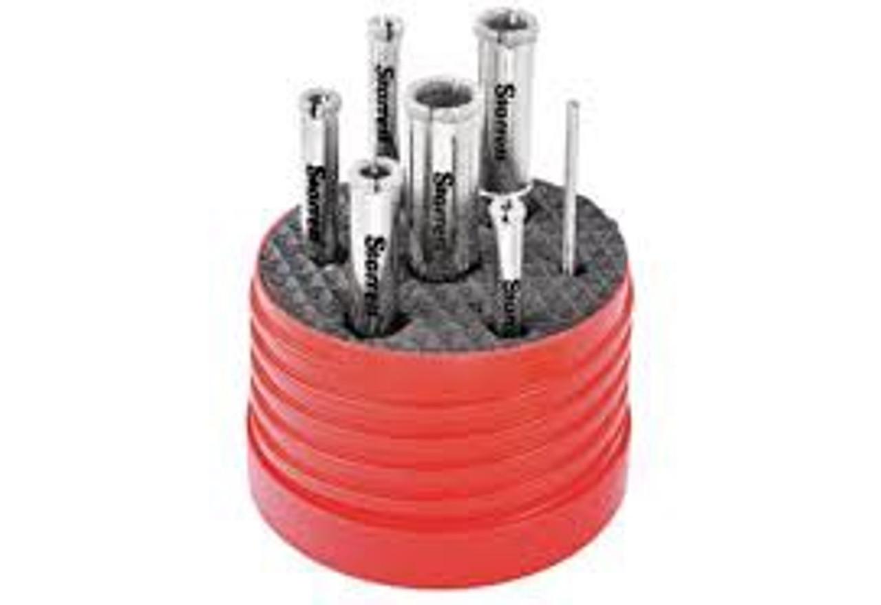 KD2000TD1 Starrett Diamond Tile Drill Kit 5-12mm With Free Drilling Guide